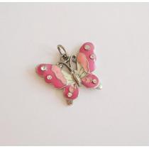 Bello Dije De Mariposa Color Rosado Claro Nuevo