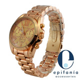 Reloj Michael Kors Mk Metálico Ajustable Unisex Color Bronce