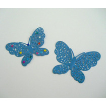 Bellos Dijes De Mariposa Color Azul Nuevos