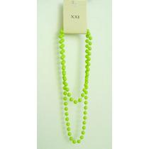 Bello Collar Color Verde Neon Nueva