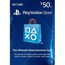 Psn Tarjetas Playstation Network De 50$ Para Ps3, Vita, Ps4