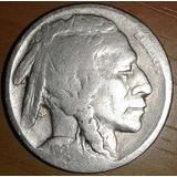 Nickel Bufalo 1924 Km# 134 Reverso Cor Error De Laminación