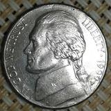 5 Cent.jefferson Níckel 1999 Km# A192 Cuño Doblado