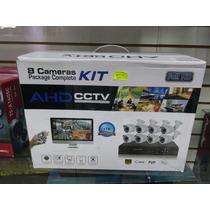 Kit Completo De 8 Camaras De Vigilancia Full Hd 1tb Disco