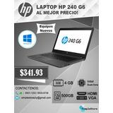 Laptop Hp 240 G6 4gb Ram, H.d.d 500gb, Proc. Intel Dual Core