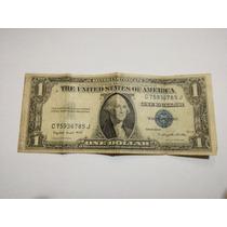 Billete De Un Dolar Sello Azul