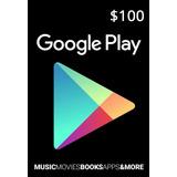 Tarjeta Google Play $100 (código Digital)