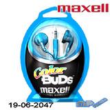 Audífonos Maxell Color Buds Azul Verde  Dorado