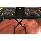 Pair Of Pioneer Dvj-1000 Professional Turntable Dj Dvd And C