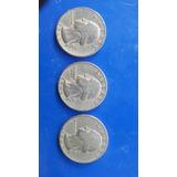 Trío De Monedas Antiguas  1965-1966-1967