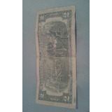 Billete De 2.00  Año 1975 Serie 5 Sello Verde
