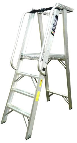 Escaleras De Tijera De Plataformas En Aluminio Industrial