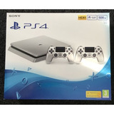 Consola Sony Ps4 Slim Silver 500gb