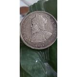1904 Panama 25 Centesimos 90%silver Coin