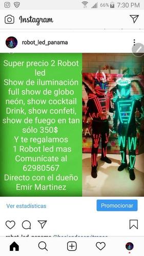 Led Man Robot Led Para Tu Fiesta