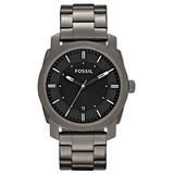 Reloj Fossil Fs4774 Machine Black Dial Smoke Ip