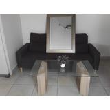 Mueble De Sala En Micro Fibra Y Sala De Cristal Finas Bases