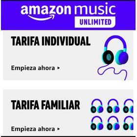 Amazon Music Unlimited Plan Individual. Entrega Inmediata