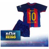 Conjunto Swater /suater Y Short Real Madrid Barcelona Niños