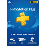 Playstation Plus: Membresía 12 Meses Ps4 Ps3 Play Store