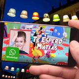 Invitacion En Video Cumpleaños Casa Micky Mouse, Con Foto
