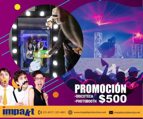 Promoción Photobooth + Discoteca $500