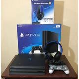 Playstation 4 Pro, 2 Controles Y Audifonos