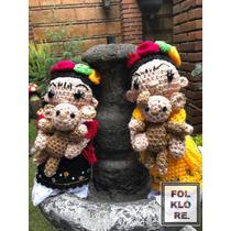 Muñecas Tejidas A Mano : Catrinas,frida Kahlo, Virgencita