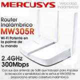 Router Inalámbrico Mercusys N De 300mbps Mw305r 3 Antenas