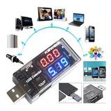 Multimetro 2 Displays Voltímetro Amperímetro Usb Doctor 2hub