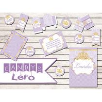 Kit Imprimible Princesa Sofia Corona Shabby Candy Bar Deco