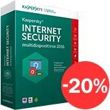 Kaspersky Internet Security 2016 Licencia 5 Pc 1 Año Español