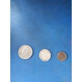 Monedas Antiguas (0.50 1776-1976 , 0.25 De 1953 Y 1 1/4 Cen)