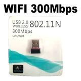 Wifi 300m Wireless-n Mini Adaptador Usb   Wifi