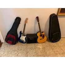 Juego De Guitarras Con Amplificador