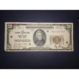 Vendo Antiguo Billete De 20.00 Año 1929 Sello Marrón