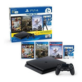 Play Station 4 1tb 1000gb Slim Sellado, 3 Juegos +fornite