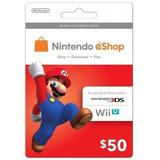 Tarjeta Nintendo Eshop $50 (código Digital)