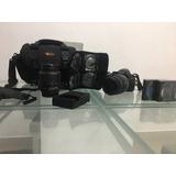 Camara Nikon D3200 Con Lente Y Accesorios