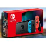 Nintendo Switch 2019 Dos Control 4 Juegos Mas Estuche