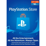 Psn Tarjetas Playstation Network De 10$ Para Ps3, Vita, Ps4