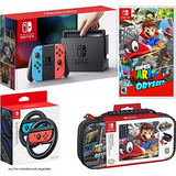 Nindendo Switch Mario Kart Edition Kit De Accesorios 2 Juego