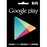 Tarjeta Google Play $25 (código Digital)