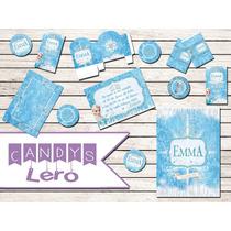 Kit Imprimible Frozen Elsa Corona Candy Bar Cumple Delicado