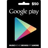 Tarjeta Google Play $50 (código Digital)
