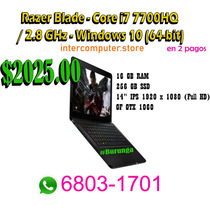 Laptop Gamer Razer Blade - Core I7 7700hq / 2.8 Ghz - Window