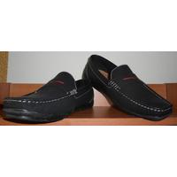 Zapatos Tipo Mocasin Talla 42 Color Azul Oscuro Nuevos