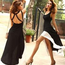 Vestido Negro , Cuello U ,importado, Nuevo.