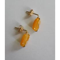 Aretes / Zarcillos Bañados En Oro
