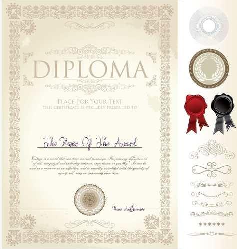 Pack De Diplomas Y Orlas Escolares Editables Con Photoshop - U$S ...